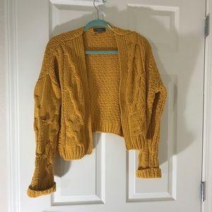 Cropped Mustard Sweater